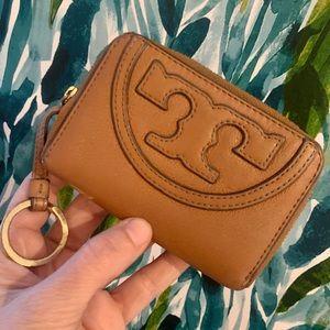 Tory Burch zippier T coin purse wallet keychain